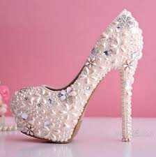 Light Pink Wedding Shoes Online Shop Am77 Light Pink Pearls Crystals Zapatos Mujer Ladies
