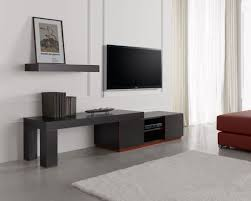 Tv Stand Desk by Oak Tv Stands And Modern Black Painted Wooden Media Cabinet With