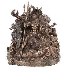 dragon home decor king neptune grotto statue by derek w frost roman god statue