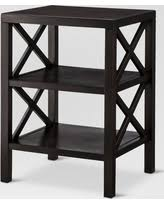 end table with shelves great deals on owings end table with 2 shelves threshold brown