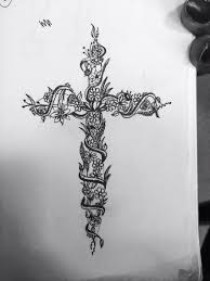 a cross done by metivier floral cross