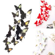 online buy wholesale 3d butterfly wall art from china 3d butterfly wall stickers decal butterflies 3d wall art home decors china