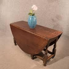 Antique Oak Dining Kitchen Table Large Gate Leg Folding Drop Leaf - Antique oak kitchen table