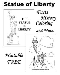 the statue of liberty facts pictures and coloring pages