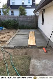 Concrete Slabs For Backyard by Pictures Of Lean To Sheds Photos Of Lean To Shed Plans