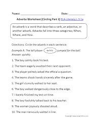 adverb worksheet 3rd grade worksheets