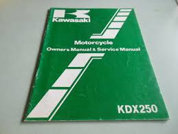 nos kawasaki oem kdx250 b4 owner u0027s service manual book 99920