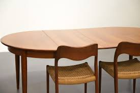 scandinavian teak dining table with extension leaves for sale at