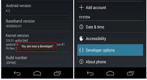 developer mode android enable developer options and usb debugging mode in android 4 2