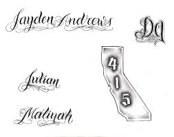 tattoo lettering by lowlife619 on deviantart