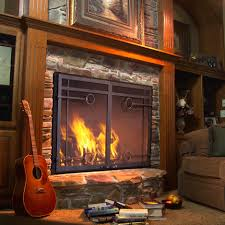 prefab fireplace glass doors home decorating interior design