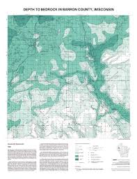 Map Of Counties In Wisconsin by Map Of The Day September 18 Depth To Bedrock Of Barron County