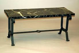 Wrought Iron Patio Coffee Table Small Wrought Iron Patio Side Table Coffee Legs Black Marble Top
