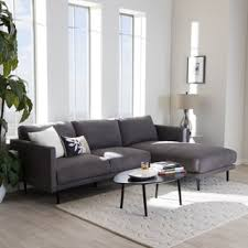 Tufted Sectional With Chaise Grey Sectional Sofas Shop The Best Deals For Nov 2017