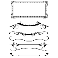 clipart frame and ornaments clip library