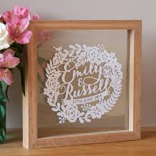 paper anniversary gifts personalised wedding anniversary papercut wedding