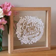 1st wedding anniversary gift personalised wedding anniversary papercut wedding