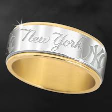 new york wedding band new york yankees spinner ring danbury mint ny yankees and chion