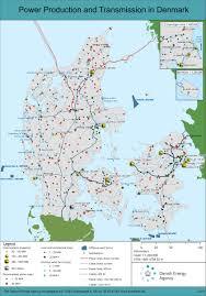 Map Of Denmark Energy Infomaps Energistyrelsen