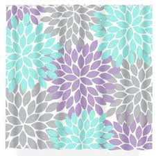 Lavender Bathroom Decor Aqua Gray Shower Curtain Lavender Flower From Trmdesignshop On
