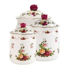grape kitchen canisters royal albert country roses 3 kitchen canister set