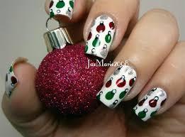 retro polka dot ornaments nail gallery
