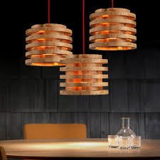 Wooden Pendant Lights Country Wooden Fixture Small Pendant Lights E27 Aperture For Wood