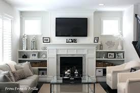 Living Room Mantel Decor Tv Over Fireplace Mantel Decor Design Ideas With Above