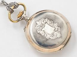 necklace watch vintage images Vintage locket pocket watch case necklace in sterling silver and jpg