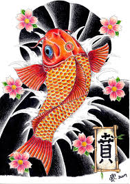 flowers n japanese koi fish tattoo design in 2017 real photo