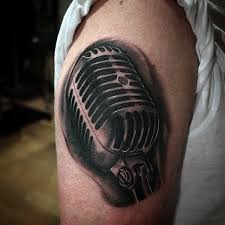 3d Tattoo Ideas For Men 90 Microphone Tattoo Designs For Men Manly Vocal Ink