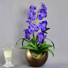 vanda orchid artificial flowers purple artificial flowers artificial flower