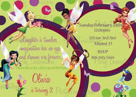 7 best images of tinkerbell party invitations free printable
