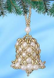 Easy Beaded Christmas Ornaments - free patterns beaded christmas ornaments check them out headed