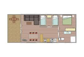2 bedroom cabins layout 1 barwon heads caravan park