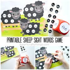 baa baa black sheep printable sight words game heart crafty