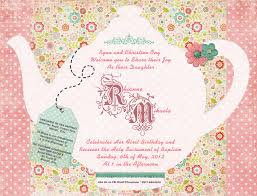 girls tea party invitation wording