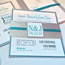 bling wedding programs teal and silver wedding invitations best 25 teal wedding