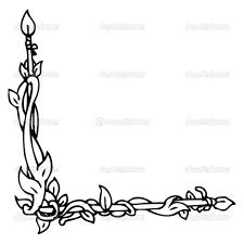 flower border drawing beautiful flowers border vector illustration