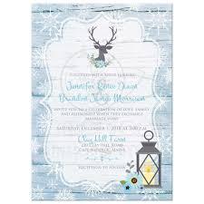 winter wedding invitations boho winter wedding invitation blue white snowflakes deer