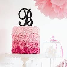 h cake topper letter cake topper initials cake topper wedding cake topper