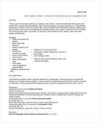 6 waitress resume templates free sample example format