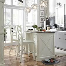 Kitchen Island With Barstools by Home Styles Seaside Lodge Hand Rubbed White Kitchen Island And 2