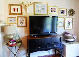 Gallery Wall Frames by Best Frames For Gallery Wall Around Tv With Gold And Stripes Nytexas