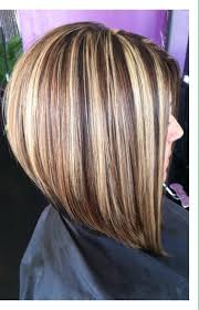 difference between stacked and layered hair long bob haircut chunky highlights mocha lowlights