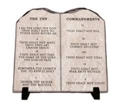 the ten commandments king james version stone slate home decor art