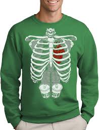 pregnant halloween shirt skeleton halloween skeleton six pack beer abs xray funny costume sweatshirt