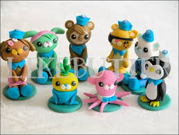 octonauts cake toppers hunters cake guys 3d mini fondant octonauts inspired cake toppers