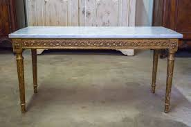 french louis xvi style gilded coffee table with marble top for