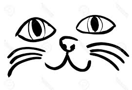 simple cat face drawing simple face drawings cliparts stock vector